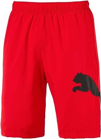 "PUMA Men's Ess Big Cat Woven Shorts 10"" Fs, Flame Scarlet"
