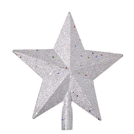 Stella Di Natale Tridimensionale.Fangkuai Xmas Luccichio 3d Stella Puntale Albero Di Natale