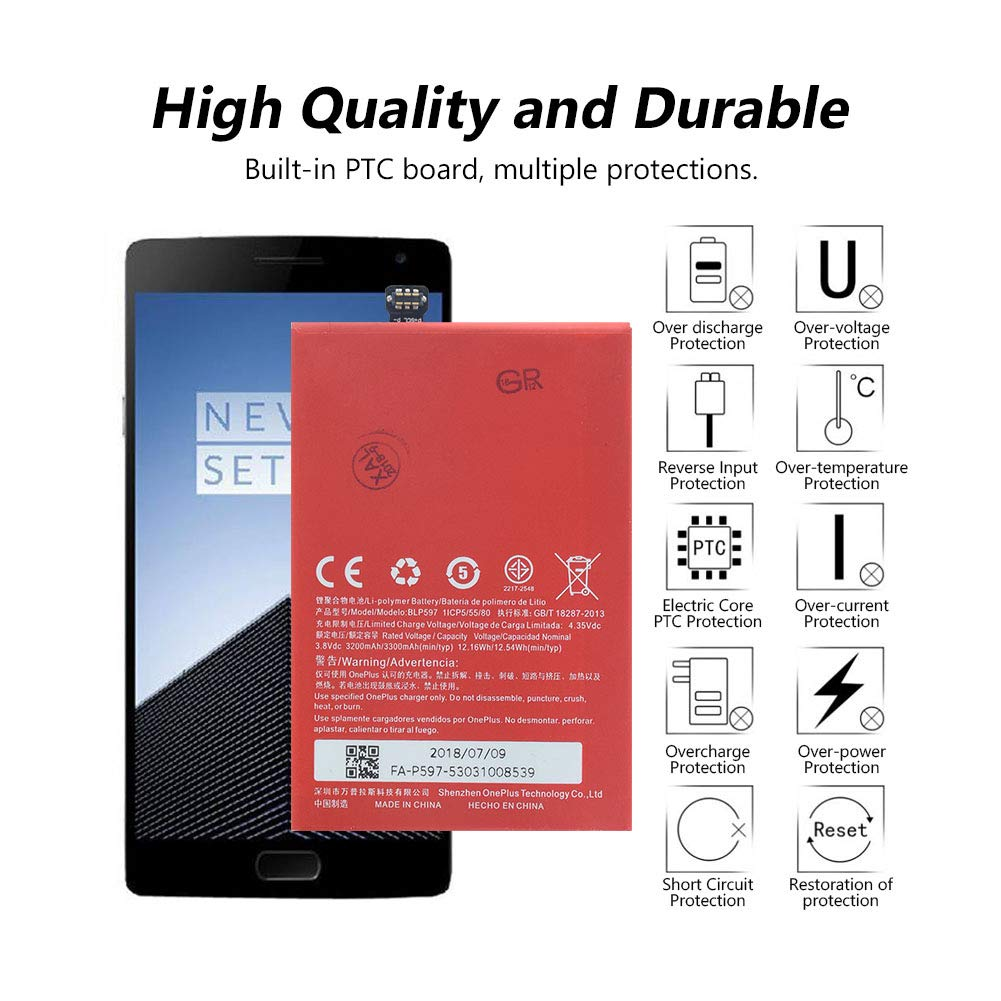 Amazon.com: Original Replacement BLP597 Battery for OnePlus ...