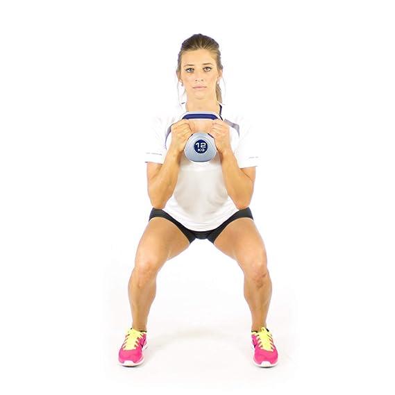 Kemket Multicolor - peso de 2 kg a 20 kg gimnasio en casa ejercicio Kettle bell training workout Fitness 2 kg, 4 kg, 6 kg, 8 kg, 10 kg, 12 kg, ...