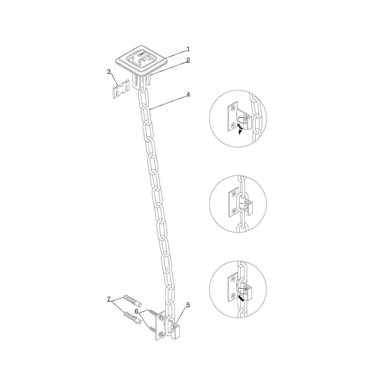 ECI/® Gitterrost-Sicherung Einbruch-Schutz Zusatz-Sicherung f/ür Licht-Schacht Keller-Schacht 1 Paar