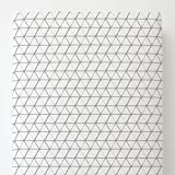 Carousel Designs White and Silver Gray Aztec Triangles Toddler Bed Sheet Fitted