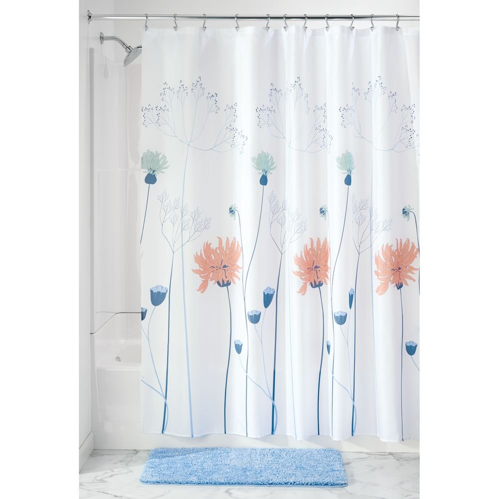 Amazon InterDesign Floral Meadow Fabric Shower Curtain