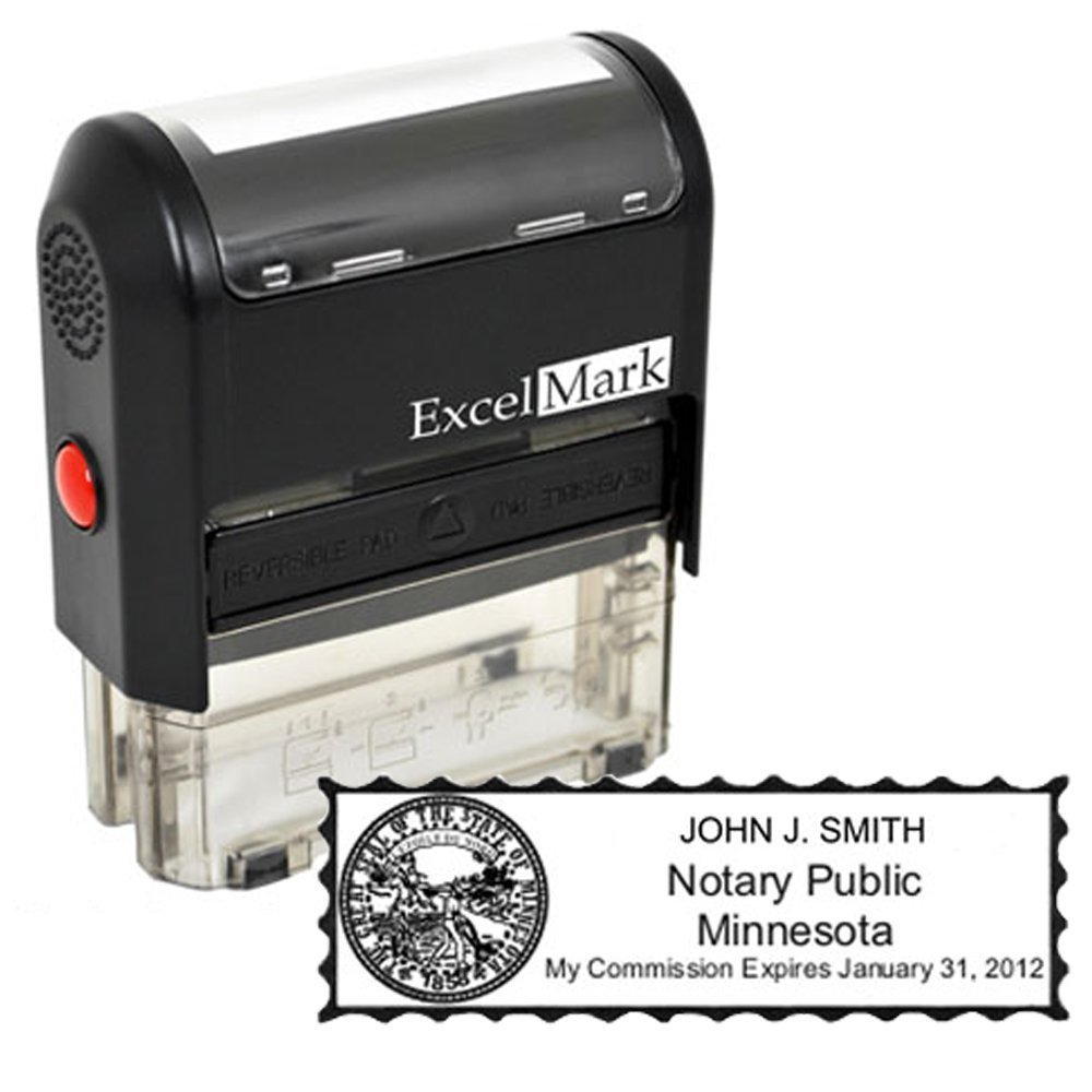 ExcelMark Self Inking Notary Stamp - All 50 States by ExcelMark