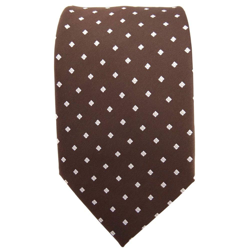 TigerTie - Corbata - marrón castaño claro plata lunares con ...