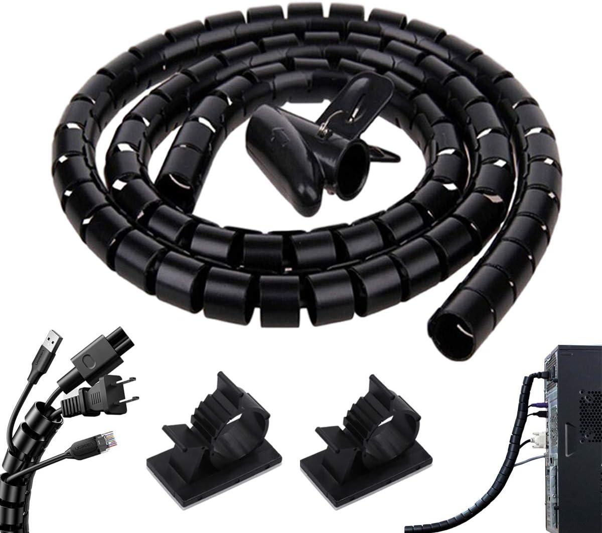 Organizador Cables,Cubre Cables, Flexible Funda Organizador Cables, Organizador de Cables Mesa,Espiral Cubre Cables Universal para Ordenador, TV, Hogar, Oficina: Amazon.es: Bricolaje y herramientas
