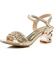 1TO9 Womens Glass Diamond Engagement Blend Materials Sandals