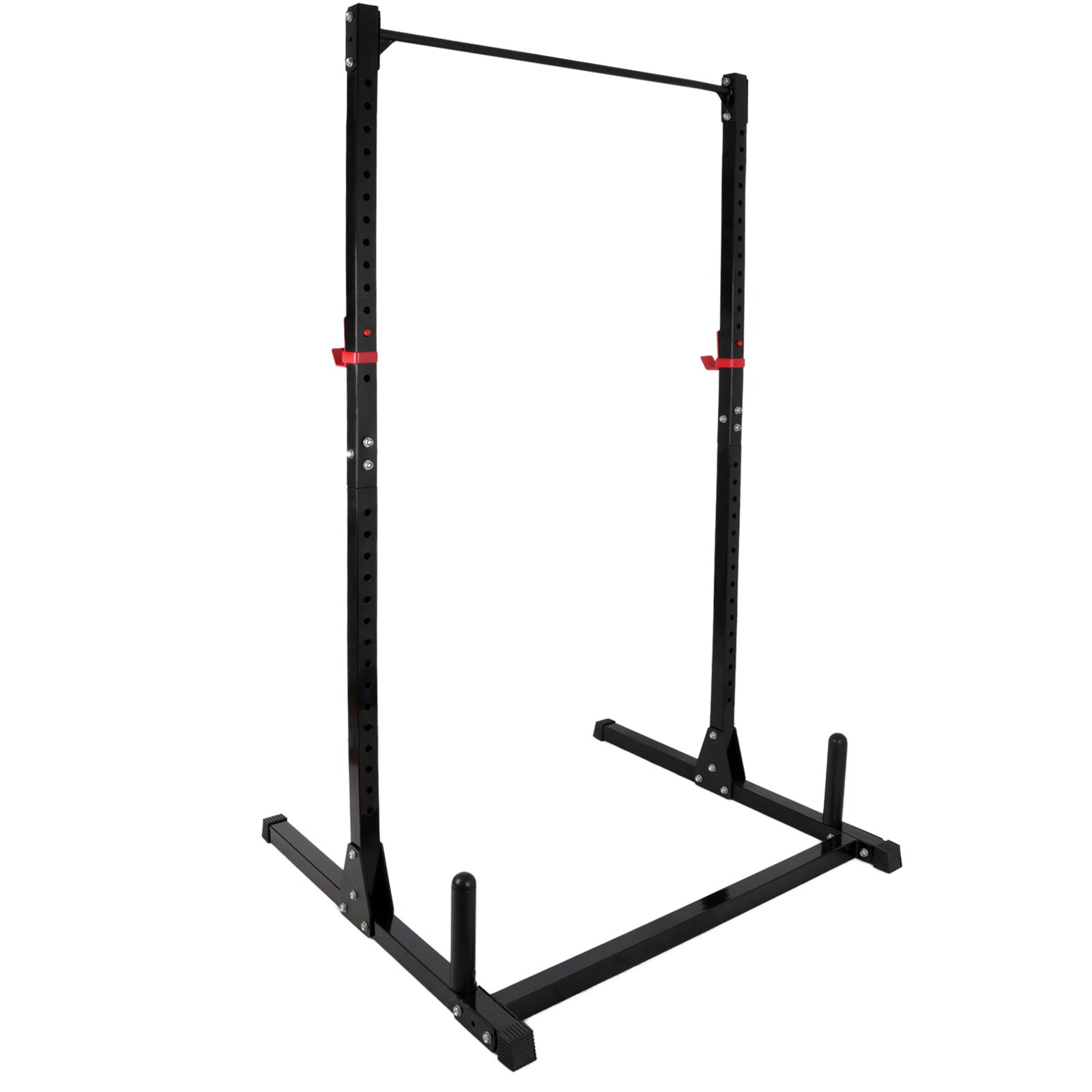 ZENY Height Adjustable Weight Rack Cage Exercise Fitness Stand Squat Bench Weightlifting Pull UP Stand Power Tower Strength Training Workout Station