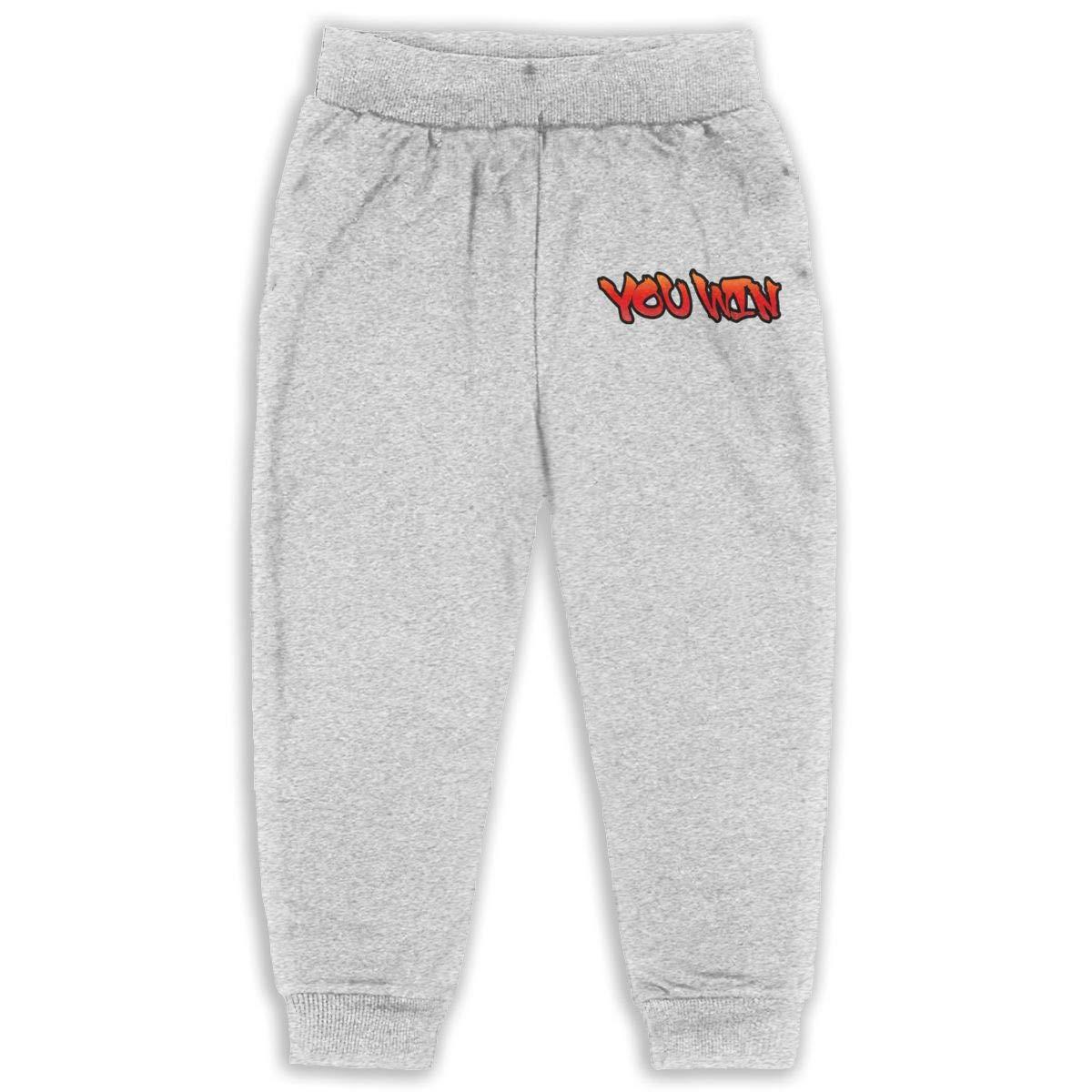 JOAPNWJ You Win Children Cartoon Cotton Sweatpants Sport Jogger Elastic Pants