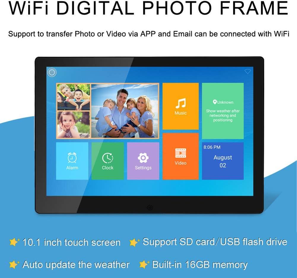 Support Alarm 1080P Video USB SD Slot Calendar YTBLF 10.1-inch WiFi Digital Photo Frame Motion Sensor and Multi-slideshow Mode Photos