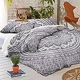 Ombre Duvet Doona Cover Mandala Hippie Bohemian Queen Quilt 2 pillow Cover Blanket