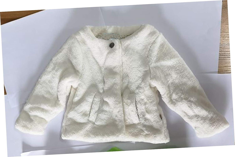 eKooBee Infant Baby Girls Fur Vest Sold White Leopard