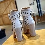 FORUU Fashion Martin Boots Women Rivet Platform