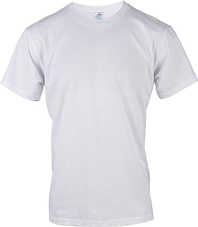 Blu Cherry - Camiseta básica para Hombre (3 Unidades, algodón Blanco Liso, Tallas del Reino Unido): Amazon.es: Ropa y accesorios