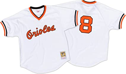 10be5340339 Retro Cal Ripken Jr 1985 Batting Practice Baltimore Orioles Mitchell Ness  Jersey