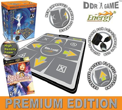 - DDR Multi-Platform Super Sensors Energy Non-slip Dance Pad (PS, PS2, XBox, PC, Mac) with DDR Game Ultramix 2 (XBOX)