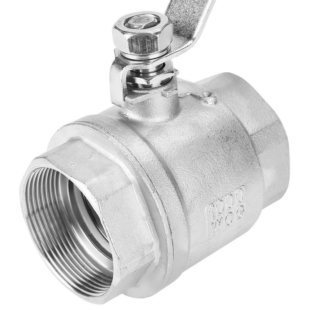 Ball Valve Female Thread 2 304 Stainless Steel Two-Piece Full Port Female Thread Ball Valve 2 DN50 1000 WOG