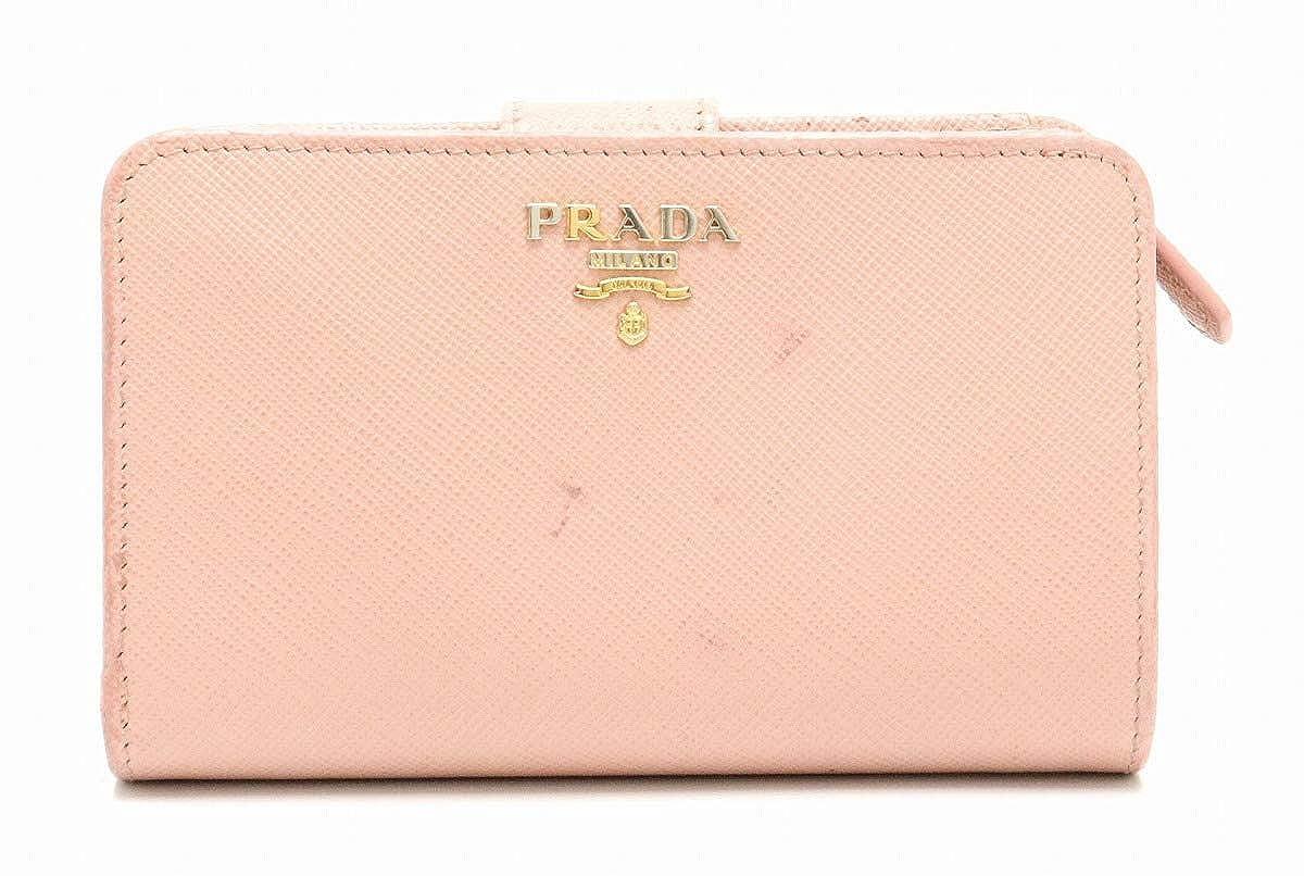 [プラダ] PRADA サフィアーノ SAFFIANO 二つ折り 財布 ORCHIDEA ベージュピンク ゴールド金具 国内ブティック購入品 1ML225 [中古]   B07P2CK67N