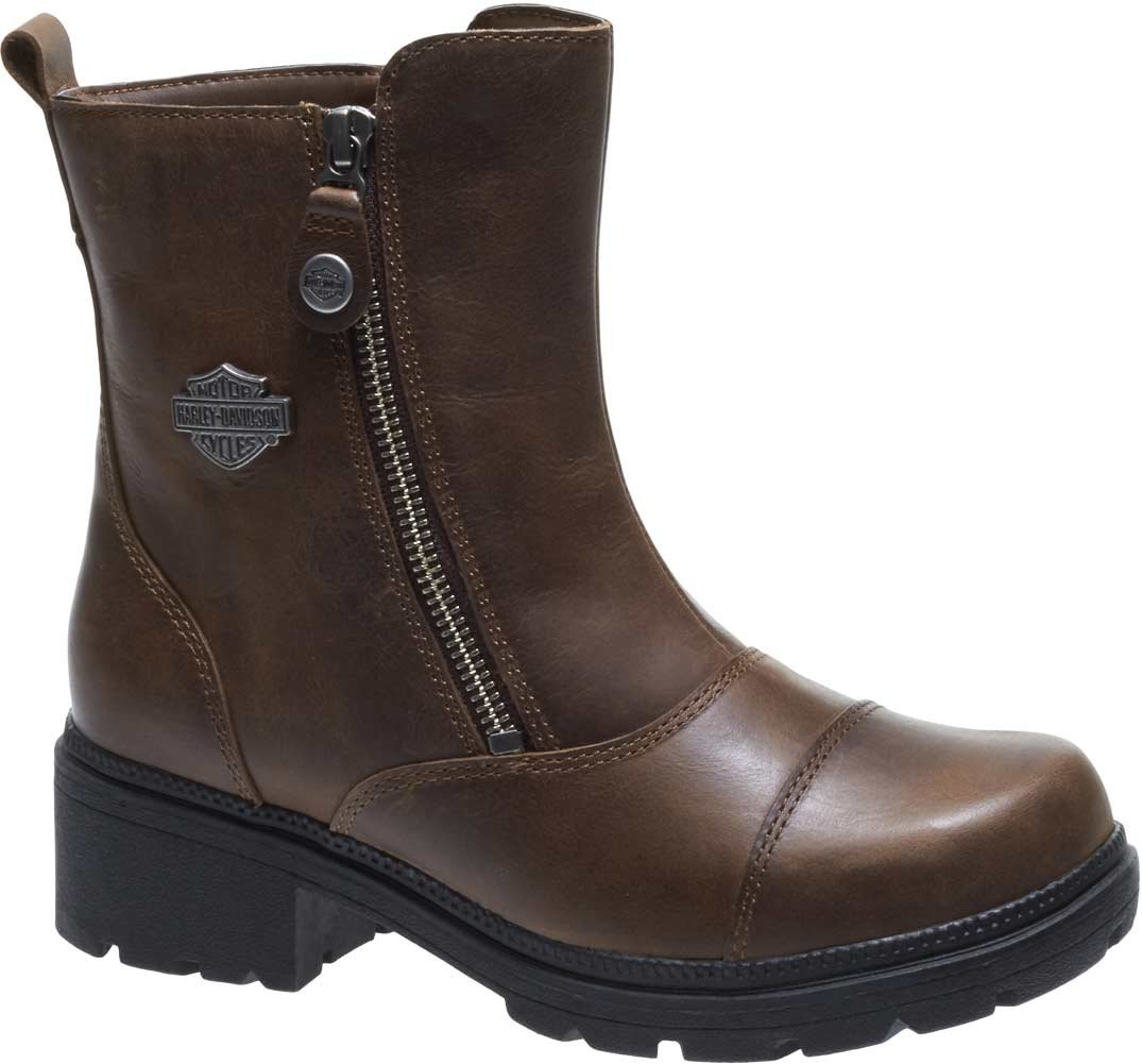 Harley-Davidson Women's Amherst 5.5-Inch Motorcycle Boots D84237 (Brown, 6)