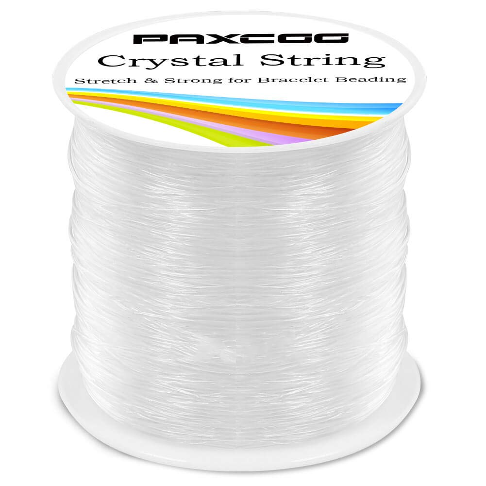 Stretchy Bracelet String Crystal String Bead Cord for Bracelet Beading and Jewelry Making Paxcoo 0.8mm Elastic String 120m