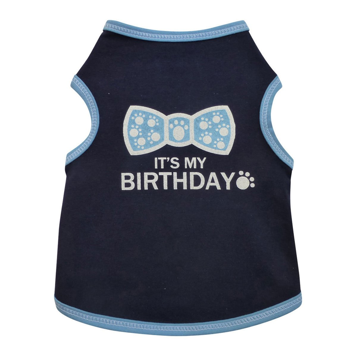 I See Spot ''It's My Birthday'' Tank, X-Large, Navy Blue