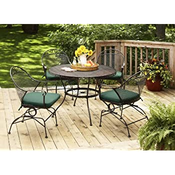 Better Homes and Gardens Clayton Court 5-Piece Patio Dining Set, Green, Seats 4