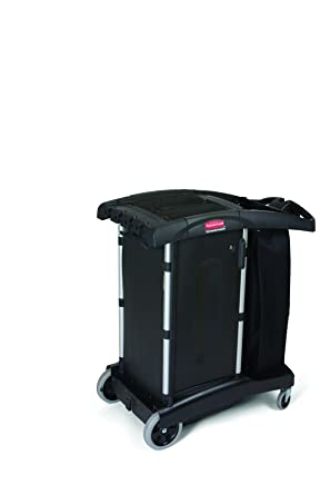 Rubbermaid Commercial Products 9T77 Carro de Limpieza, Estructura Compacta, Negro