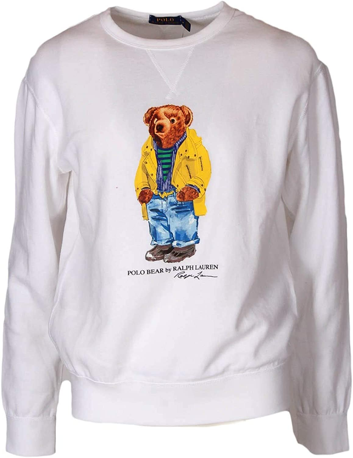 Sudadera Crew Polo RALPH LAUREN Polo Bear Blanco XL Blanco: Amazon ...