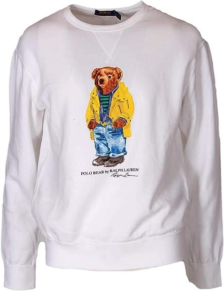 Sudadera Crew Polo RALPH LAUREN Polo Bear Blanco M Blanco: Amazon ...