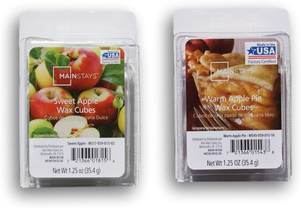 Mainstays Winter Scented Wax Cubes Bundle - Sweet Apple and Warm Apple Pie