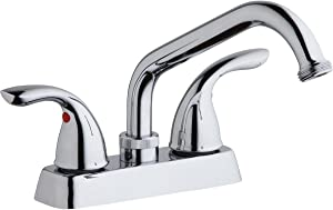 Elkay LK2000CR Laundry/Utility Deck Mount Faucet and Lever Handles, Chrome