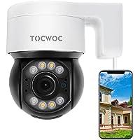 5MP Security Camera Outdoor, 2560×1920 TOCWOC Home Surveillance Camera with Pan/Tilt Waterproof Wi-Fi Camera Color Night…