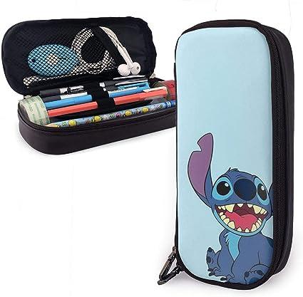 Lilo and Stitch - Estuche para lápices de gran capacidad con doble cremallera para la escuela y la oficina: Amazon.es: Oficina y papelería