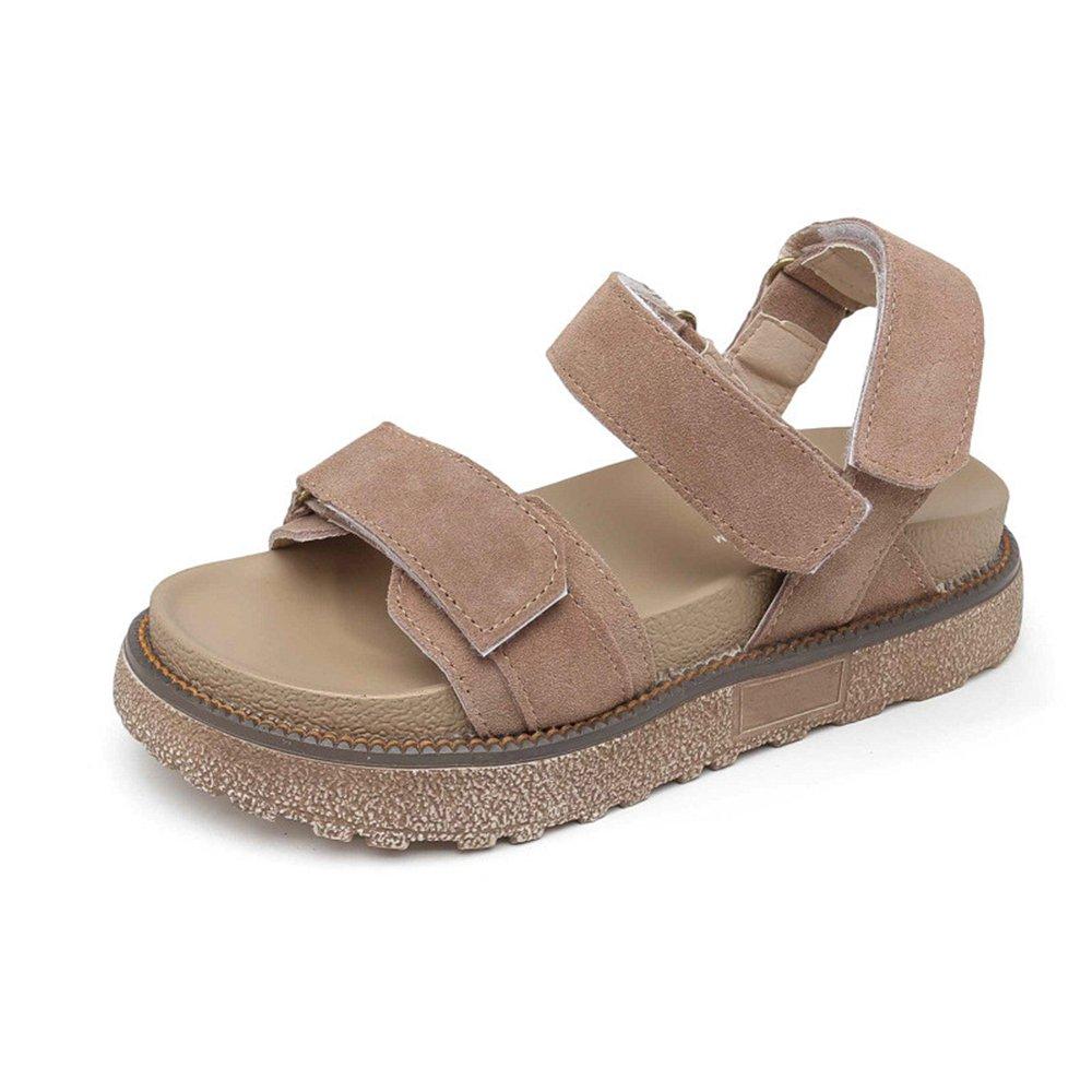 PRETTYHOMEL Summer Women Sandals Platform Heel Leather Soft Comfortable Wedge Shoes Ladies Casual Sandals B07CYQJL23 40/9.5 B(M) US Women|Brown