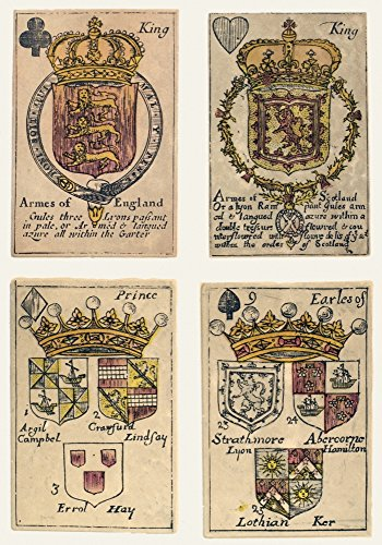 Heraldic Playing Cards Nplaying Cards Bearing The Blazoning Of The Ensignes Armorial Of The Kingdoms Of Scotland England And Ireland Engravings C1693 Poster Print by (18 x 24)