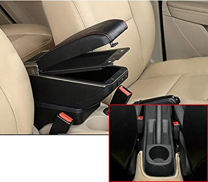 Armrest Box Central Storage Box for Polo 9N Content Storage Center Console Car Drink Holder