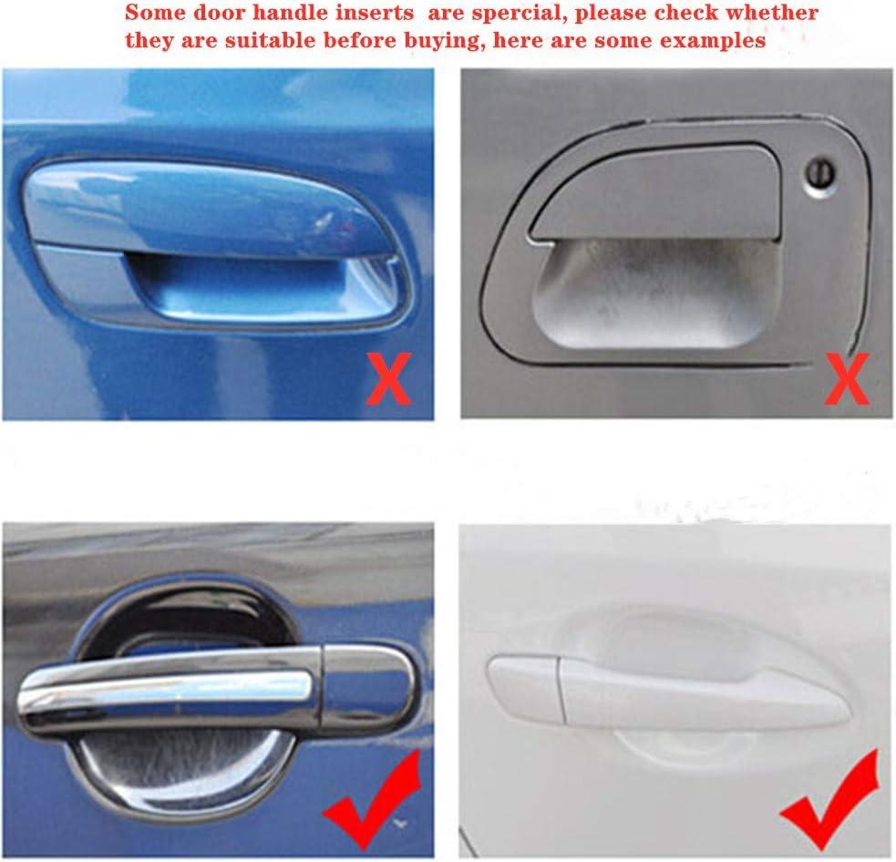 MLING Auto Esterna Porta Maniglia Protezione Magnetica Antigraffio Maniglia Vernice Protezione 4 Pezzi
