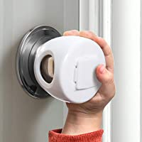 Door Knob Safety Cover for Kids, Child Proof Door Knob Covers, Baby Safety Door knob Handle Cover Lockable Design (4…