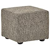Rivet Modern Upholstered Cube Ottoman, 20″W, Bear Review