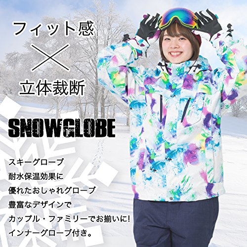 praise(プレイズ)スキーグローブスノーグローブインナーグローブ付属スキースノーボードスノボレディースパープル×ピンク