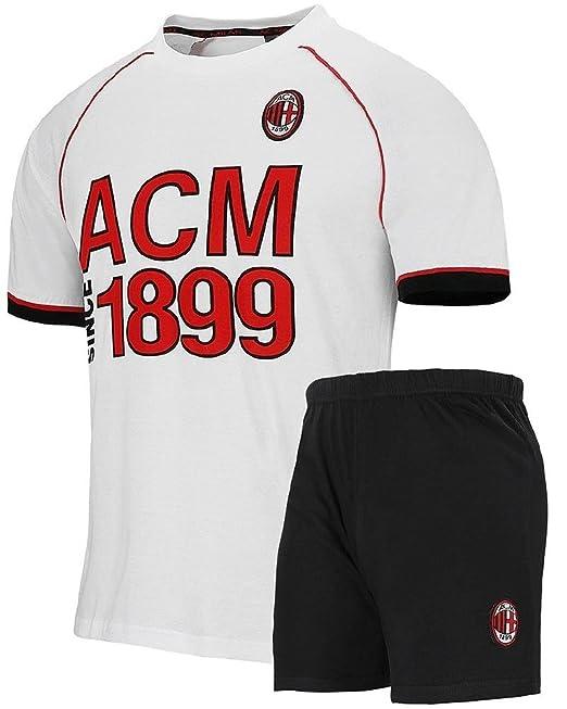 Pijamas cortos para hombres de Milán Ropa de fútbol ACM Milan PS 26930: Amazon.es: Ropa y accesorios