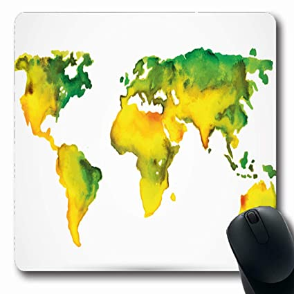 Amazon.com : Ahawoso Mousepads Abstract Brown Water Watercolor World on three-dimensional world map, vintage world map, painting world map, jewelry world map, silver world map, unique world map, sepia world map, artistic world map, illustration world map, colorful world map, flowers world map, creative world map, miniature world map, doodle world map, transparent world map, nature world map, old world map, cute world map, blank world map, abstract world map,