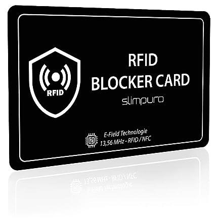 RFID Blocker - Tarjeta Bloqueo RFID para Tarjetas de Crédito y Débito – Una Sola Tarjeta Protege tu Cartera, Pasaporte – Di Adiós a las Fundas – ...
