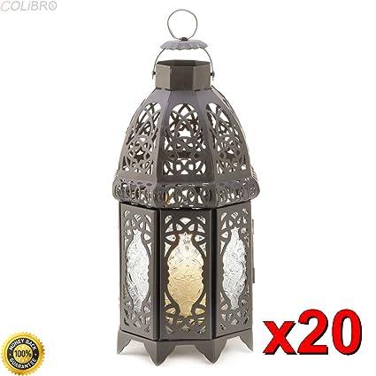Amazon Colibrox 20 Black Lattice Moroccan Wedding Centerpieces