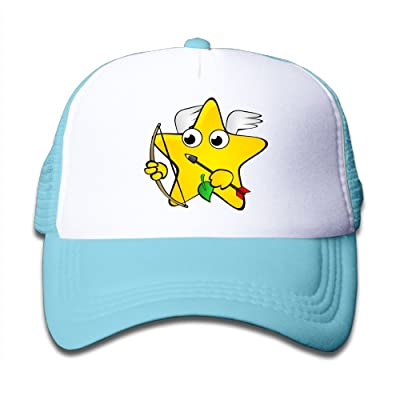 Aiw Wfdnn Mesh Baseball Hats Boys Funny Shooting Star with Wings Casual Adjustable