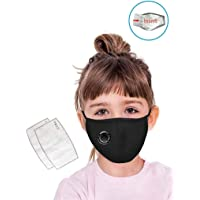 TALABETY 1 Pc Mouth Cover with 2 Filters Dustproof with Breathing Valve Washable Reusable Stop Fog Mouth Safe isolation…
