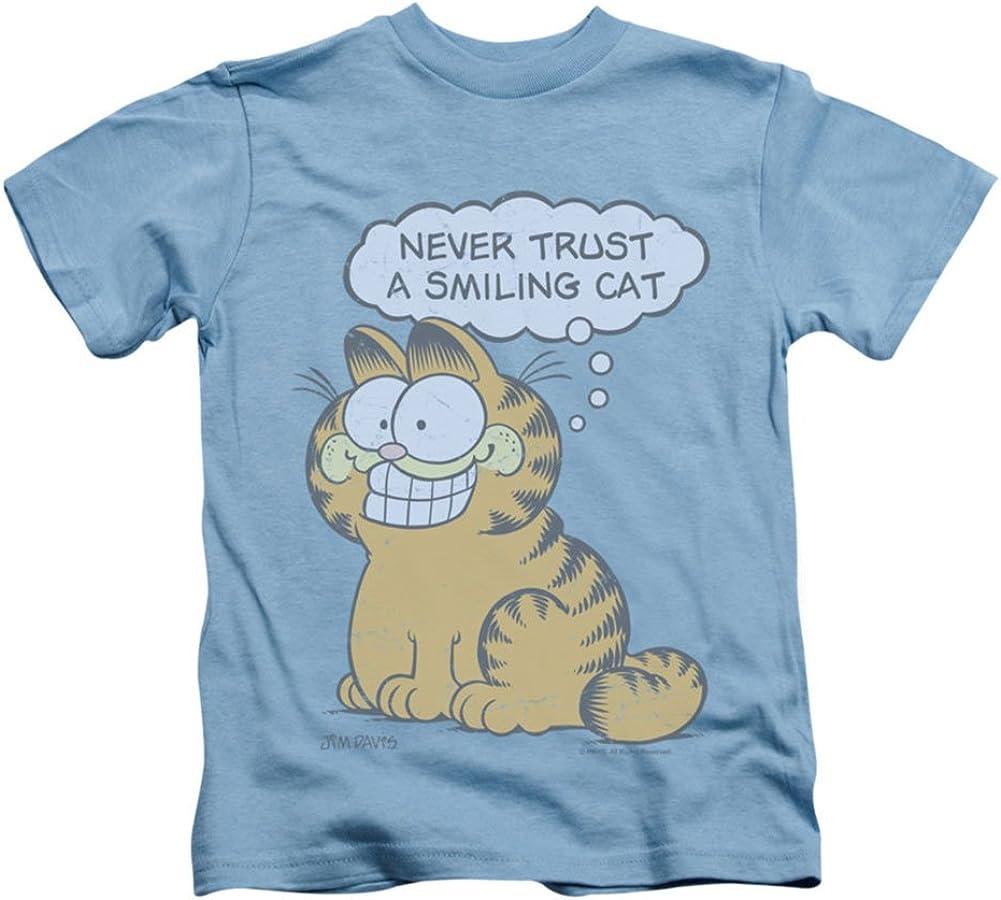 Garfield Comic Smiling Cat Little Boys T-Shirt Tee