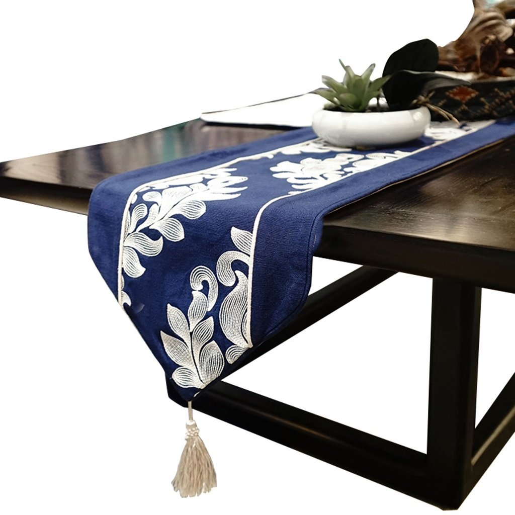30180cm TABLE RUNNER BSNOWF Bed Tail Flag bluee Bud Coffee Table Flag shoes Cabinet Cover Cloth Bedroom Living Room (Size   30180cm)