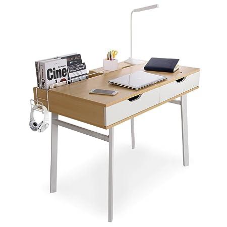 Lifewit Mesa Escritorio para Trabajo,Estudio,con 2 Cajones, Gran ...