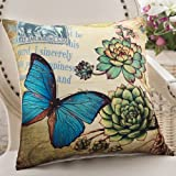 ZZYHOME-American Creative Sofa Cushion Throw Pillow Home Decor office and car Decorative Cushion ,5555cm( Hood + pillow),Z Butterfly Dance full Chamber